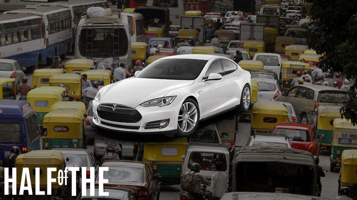 Will a TESLA car work out in India? HalfofThe